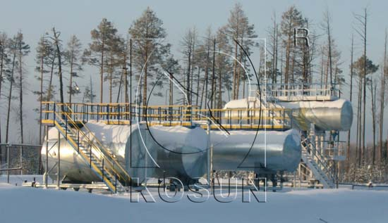 KOSUN Diesel Tank in Russian Sever Cold Region
